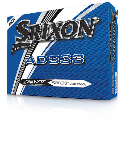 12 SRIXON AD333 Pure White Golfbälle Modell 2019